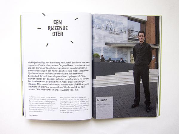 Boekontwerp 'Talent in Praktijk', LMC Praktijkonderwijs Schietbaanstraat Rotterdam