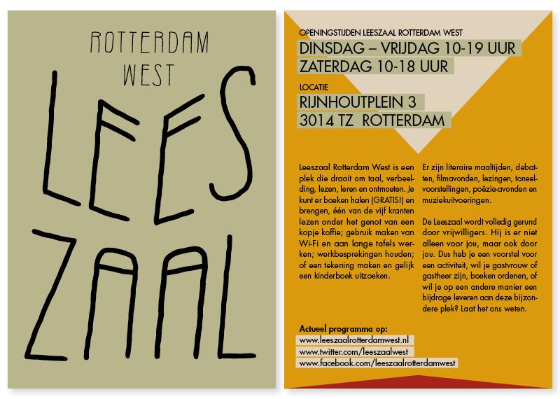 Flyer Leeszaal Rotterdam West
