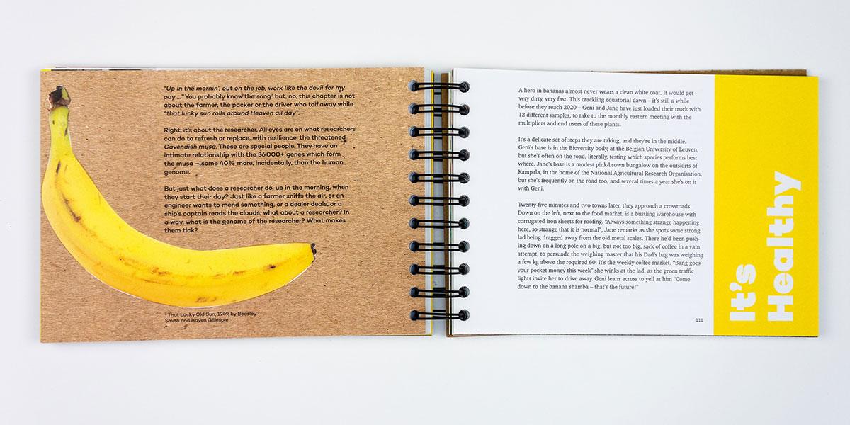 'More green than yellow' Hét bananenboek. Ontwerp Karin ter Laak en Serena Williams