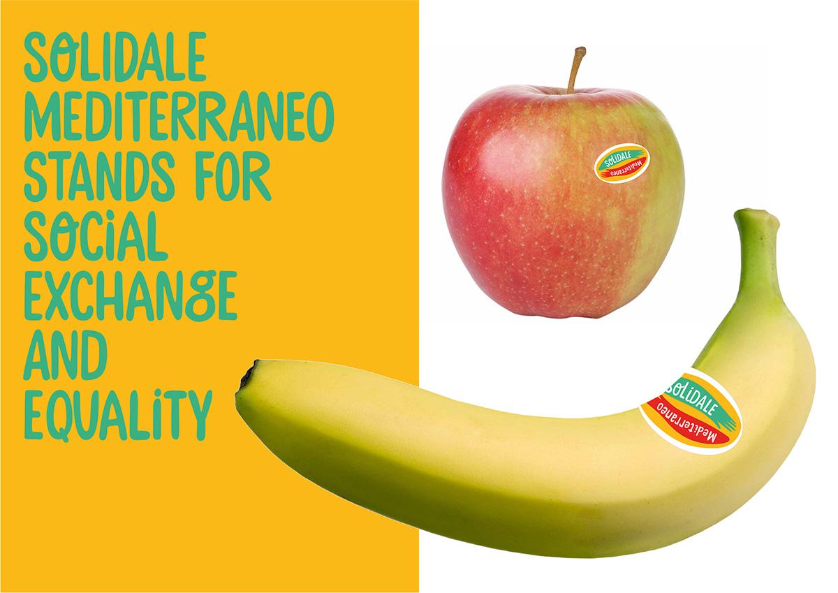 ontwerp groente- en fruitlabel